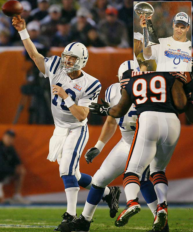 The Colts quarterback cemented his status as one of the game's best with Indianapolis' 29-17 win over the Chicago Bears in Manning's first Super Bowl appearance. But Manning isn't alone in achieving first-time glory in 2007. Here are some others.