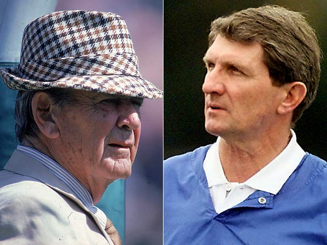 When college football's most acclaimed coach resigned in '82, Bryant was succeeded by one of Bear's Boys. But many Tide backers found Perkins, the ex-New York Giants coach who had none of Bryant's charm, unbearable. After four years seasons, he left to coach Tampa Bay.