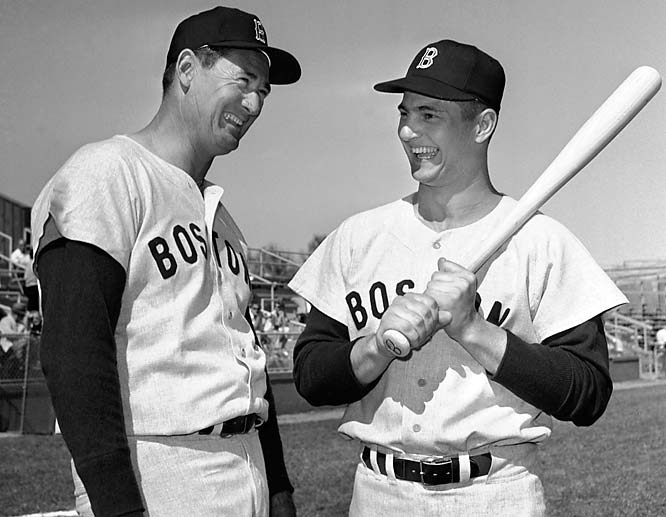 "Teddy Ballgame was the greatest pure hitter in Boston -- no, baseball -- history. When he retired in 1960, the Splendid Splinter was followed by a kid named Yaz: a left-handed hitter and left fielder, a first-ballot Hall of Famer and the last player to hit for the Triple Crown during Boston's 1967 ""Impossible Dream"" run to the World Series."