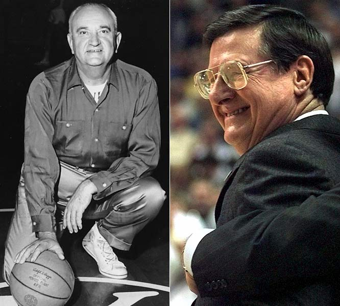 ''The Man in the Brown Suit,'' Rupp's teams ruled the Kentucky bluegrass and won four NCAA championships. From 1972 to 85, Hall won 297 games and the '78 title in three Final Four trips. But he'd had enough of the Big Blue frenzy by '85, when Joe be gone.