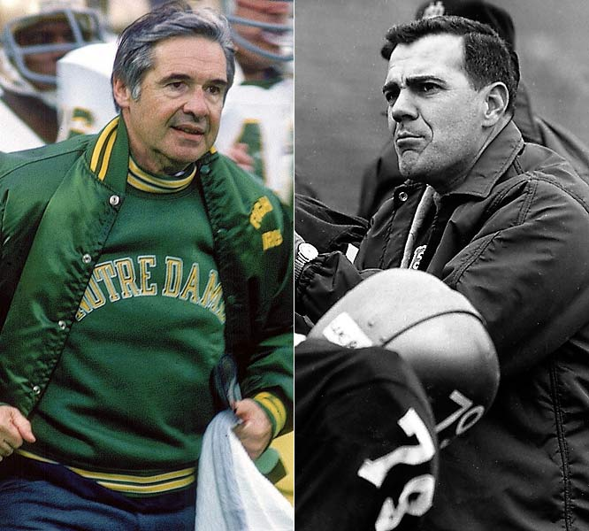 The Era of Ara (1964-74) restored Notre Dame to football preeminence. The Irish went 95-17-4 and won two national championships. Devine, who'd bolted Green Bay for South Bend, won a title in '77 but engendered little warmth or magic. Forgive Devine? No way.