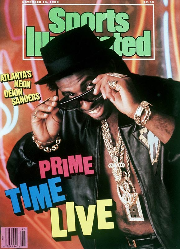 With an ode to Run DMC and bad 80s television, Sanders dressed up for the cover of SI in his opening season in Atlanta.