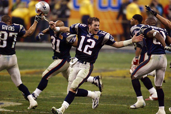 The Patriots won an NFL-record 21 consecutive games from 2003 to 2004. The streak included a 32-29 victory over Carolina in Super Bowl XXXVIII.