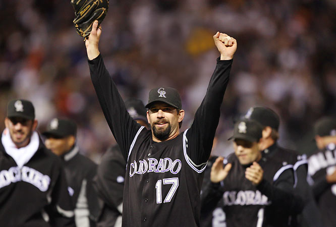 On the morning of Sept. 16, the Rockies were a mere four games above .500 and nearly out of the playoff picture. Starting with a 13-0 rout of Florida that day, Colorado went on to win 14 of its last 15 regular-season games, sweep the Phillies in the first round of the playoffs and sweep the D'backs in the NLCS. All told, the Rockies won 21 of 22 games on their way toward winning their first National League pennant.