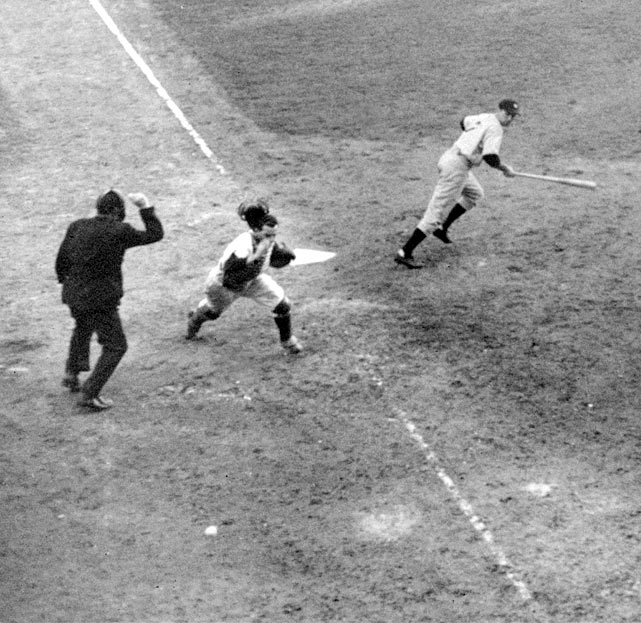 The Dodgers had won their first pennant in 21 years and were one out away from tying the Series at two games apiece when catcher Mickey Owen dropped a third strike. Instead of being the final out of the game, New York's Tommy Henrich reached first. The Yankees then put together a four-run rally to win the game. The next day, they won their fifth world championship in six years.