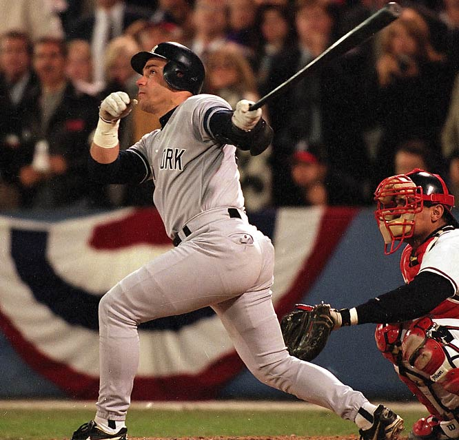 The Yankees were in danger of falling behind 3-games-to-1 to the Braves when Jim Leyritz came off the bench and launched a three-run home run off closer Mark Wohlers to tie Game 4. The Yankees went on to win 8-6 in 10 innings and take the Series in six games, their first title since 1978.
