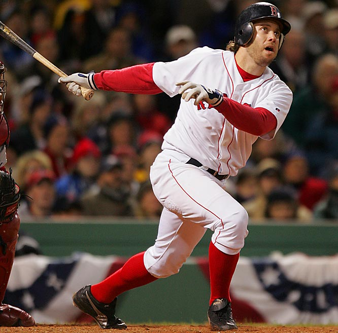 Little-known Mark Bellhorn provided the biggest hit of the 2004 Series for Boston with his eighth-inning, two-run home run in Game 1 that gave the Red Sox an 11-9 lead. Boston went on to sweep the Cardinals and win its first title since 1918.