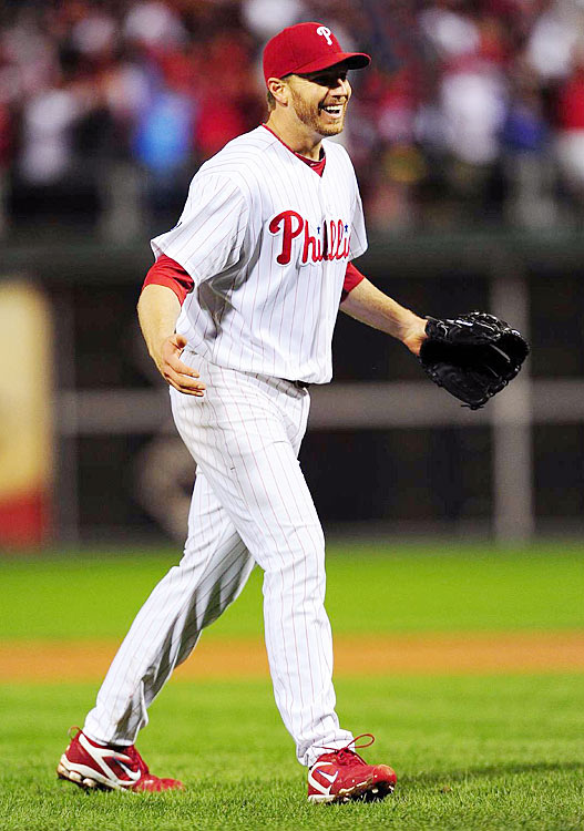 In Game 1 of the 2010 NLDS, Roy Halladay pitched the second no-hitter in postseason history, and first since Don Larsen's perfect game in the 1956 World Series. Halladay shut down the Reds, the NL's highest-scoring team, allowing only one baserunner, while throwing 79 o fhis 104 pitches for strikes. It was his first postseason appearance and an unforgettable one.