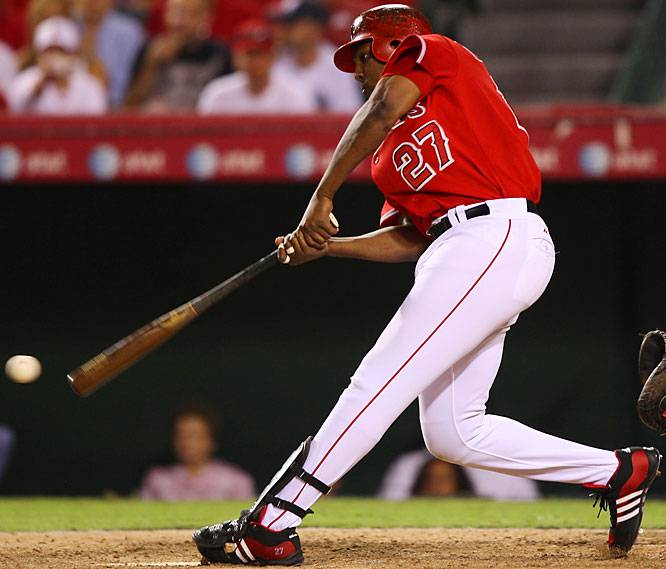 Guerrero was the only player with more than  20 home runs and 100 RBIs for the AL West champion Angels.