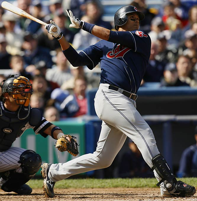 Martinez led the Tribe in home runs (25), RBIs (114) and batting average (.301) as Cleveland qualified for the playoffs for the first time since 2001.