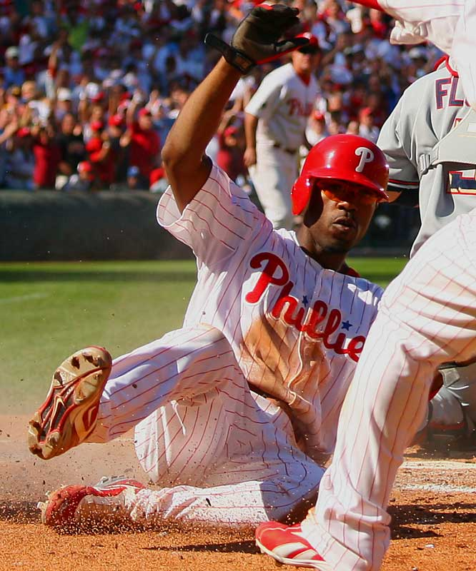 As one of four players to have 20 doubles, 20 triples, 20 home runs and 20 stolen bases in a season, Rollins has been the engine behind the Phillies' first playoff appearance since 1993.