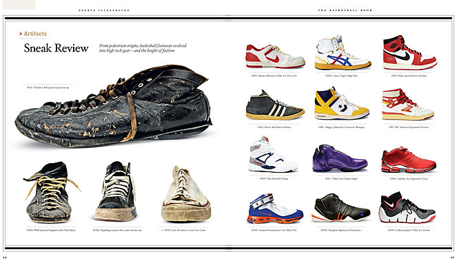 From pedestrian origins, basketball footwear evolved into high-tech gear -- and the height of fashion.