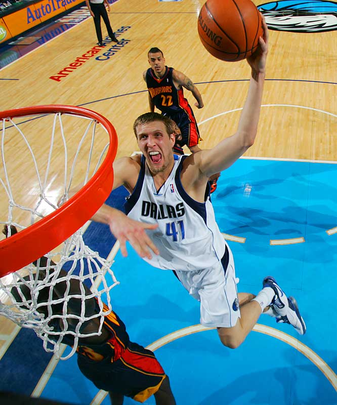 """His struggles during the Mavs' first-round playoff loss to the Warriors took some of the luster off his becoming the first European-born player to win the MVP award. One scout said of the 7-foot forward, """"I bet he's going to come back with a vengeance this year."""""""