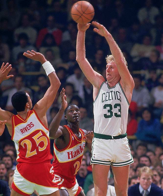 "Both players made it cool again to pass the ball. Bird was a prototype ""point forward,'' averaging at least 5.5 assists, and as many as 7.6, in 11 of his 13 seasons. Because of the way he involved teammates, Boston icon Red Auerbach once said: ``If I had to start a team, the one guy in all of history I would take would be Larry Bird.'' OK, so Auerbach -- the guy who drafted Bird -- basically was patting himself on the back. But the cigar-chomping Celtics architect also landed Bill Russell back in 1956."