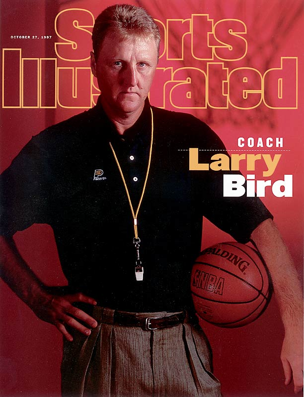 Bird beat Johnson into basketball's Hall of Fame, getting inducted in 1998, then serving as Johnson's presenter in 2002. The two men combined for eight NBA titles, six MVP awards and 24 All-Star selections -- without ever winning a single scoring title. Bird went 147-67 in three seasons as Indiana's head coach, earning the Coach of the Year award in 1998, and now is the Pacers' president of basketball operations. He one-upped Johnson in one other category, too, by never hosting a late-night talk show.
