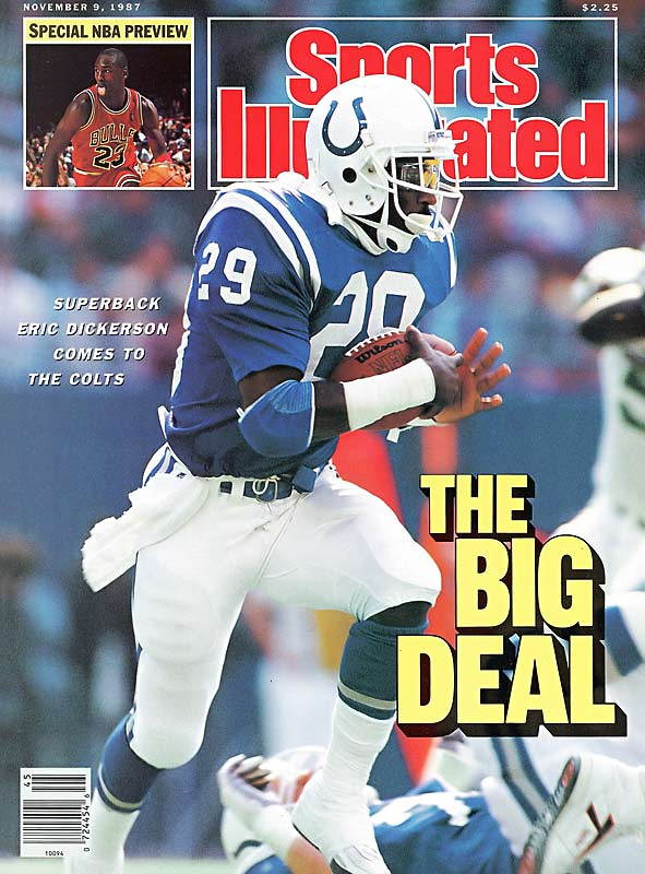 Oct. 30, 1987:   Indianapolis acquires RB Eric Dickerson; Buffalo acquires LB Cornelius Bennett; L.A. Rams acquire RB Greg Bell and draft picks.  Everybody came away a winner in the three-team Halloween megadeal that has become known as the Eric Dickerson trade. The recently rebranded Indianapolis Colts got a superstar running back and immediate sense of identity with the prolific Dickerson. The Bills landed Bennett, the bedrock of a defense that would help Buffalo advance to four straight Super Bowls. And the Rams picked up three first-round picks along with Bell -- a steady veteran who would twice lead the NFL in touchdowns, with 16 scores in '88 and 15 more in '89.