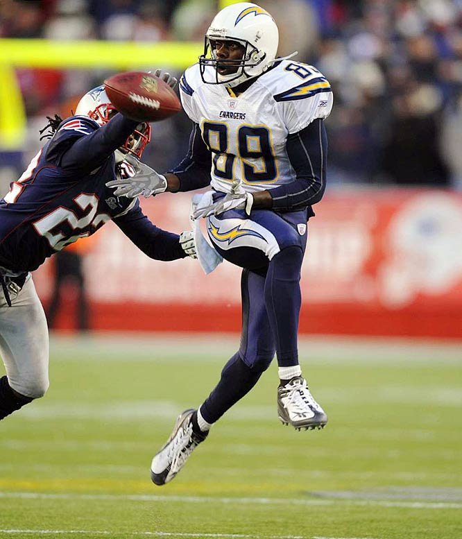 Oct. 16, 2007:  San Diego acquires WR Chris Chambers; Dolphins acquire second-round draft pick.  After getting off to a somewhat disappointing 3-3 start, the Chargers added Chambers to provide a vertical threat. San Diego's offense was far too reliant on running back LaDainian Tomlinson and tight end Antonio Gates. Defenses had started to sneak more defenders into the box to concentrate on slowing the Chargers' rushing attack. The speedy Chambers is instantly San Diego's top deep threat.  Meanwhile, at 0-6, the Dolphins were ready to look ahead and see if first-round draft pick Ted Ginn Jr. could take over at receiver.