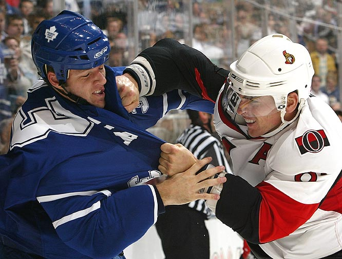 It was another Northeast battle between the Leafs and Senators, who combined for 15 penalties.