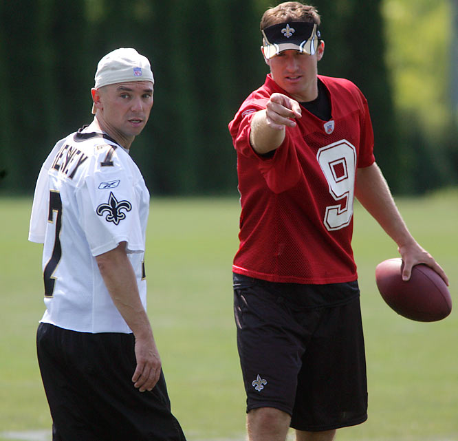 The Academy of Country Music's Entertainer of the Year for four consecutive years (2005-08) was a pint-sized receiver at Gibbs High in Corryton, Tenn. A friend of Saints head coach Sean Payton, Chesney suited up and practiced with the team once.