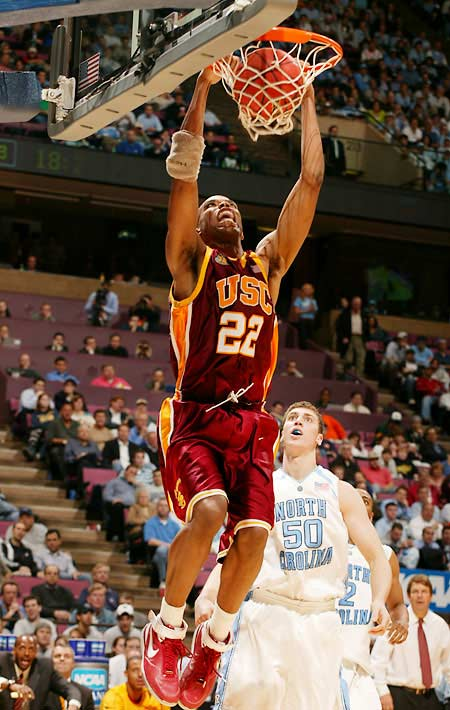 Taj Gibson (pictured), Davon Jefferson, Mamadou Diarra, RouSean Cromwell<br><br>The fact that Jefferson is arriving in the same class as O.J. Mayo means the 6-8 forward is destined to get overlooked, but in the Trojans' abbreviated (one-game) trip to Mexico over Labor Day weekend, Jefferson equaled Mayo's scoring output of 29 points. Gibson, meanwhile, was a strong post presence as a freshman, averaging 12.2 points and a team-high 8.7 rebounds.