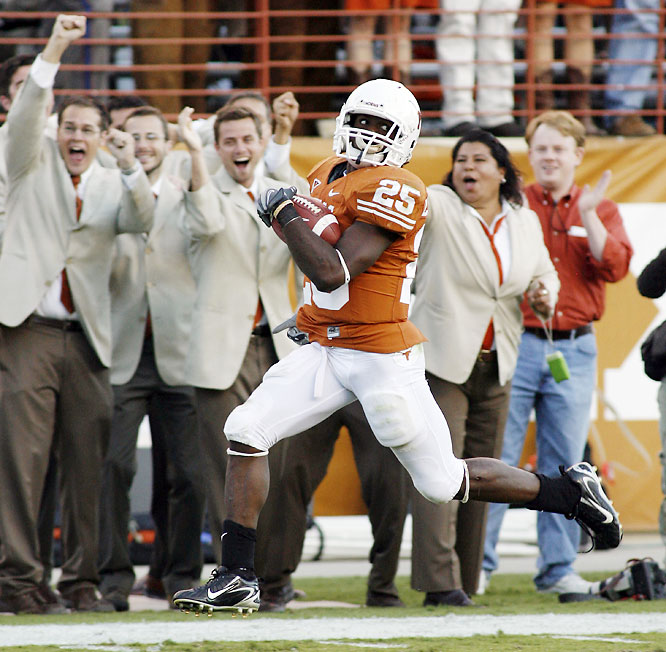 The Cornhuskers led 17-9 after three quarters, but then Jamaal Charles put the Longhorns on his back. Charles finished with a career-high 290 yards rushing -- including 216 and three touchdowns in the fourth quarter.