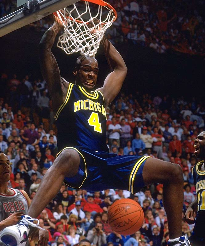 Before showboating was synonymous with college basketball, there was Michigan's Fab Five of Chris Webber, Jalen Rose, Juwan Howard, Jimmy King and Ray Jackson. They introduced the baggy shorts, became fan favorites overnight and were the beginning of the flashy play -- and no one likes flashy play when it only goes one way.