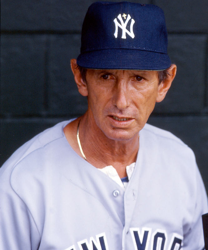 "After The Boss promised that he will manage the entire season ""win or lose,"" Berra is canned after 16 games and refuses to return to Yankee Stadium for many years. The players are enraged, to which Steinbrenner responds, ""If they're not happy, let them get jobs as cabdrivers, firemen or policemen in New York City. Then they'll see what it's like to work for a living."" Martin continues to find trouble, getting into fights on back-to-back nights in Baltimore, including a vicious brawl with pitcher Ed Whitson. New York wins 97 games, but finishes second behind Toronto."