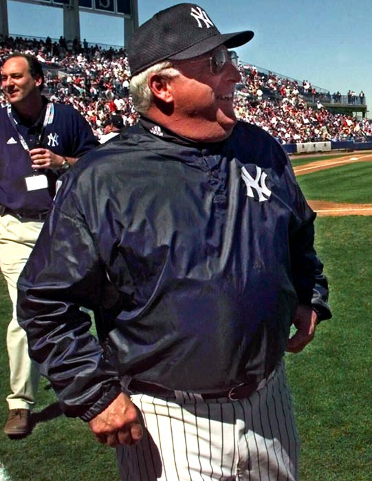 Steinbrenner was suspended for three years for the Howard Spira-Dave Winfield scandal, but that didn't stop the Yankees from firing the hapless Merrill, who was 120-155 in nearly two seasons.