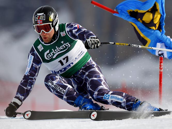 He tearfully retired as the most decorated Alpine skier in Olympic and world championship history. Despite injuring his knee in the 2006 Olympic downhill, the Norwegian successfully defended his title in the Super-G. It was his eighth Olympic gold, to go with 12 more in the world championships.