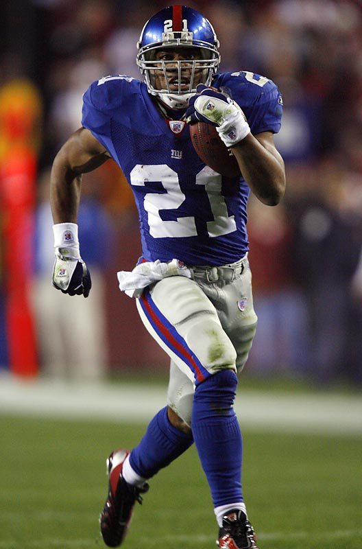 Noteworthy retirements of 2007<br><br>Imagine if he hadn't retired after 10 seasons. Still, Barber finished as the New York Giants career rushing leader with 10,449 yards. A superb receiver, the three-time Pro Bowler helped the Giants reach a Super Bowl. He left the NFL with his health intact to become an NBC TV news broadcaster and sportscaster.