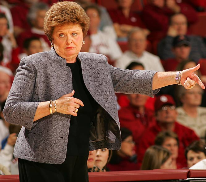 An iconic figure in women's basketball, Conradt is the second-winningest coach in the college game. At 900-306, she joins Pat Summitt as the only 900-game winners in NCAA history. Conradt spent her last 31 years in Austin, where her Texas teams of the '80s set the standard for excellence _ especially the 34-0 national champs in 1986.