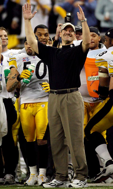 The jut-jawed Steelers coach for 15 seasons retired Jan. 5, 11 months to the day after leading Pittsburgh to a 21-10 victory over Seattle in Super Bowl XL. In succeeding the legendary Chuck Noll, Cowher went 161-99-1 and took the Steelers to six AFC title games and two Super Bowls.