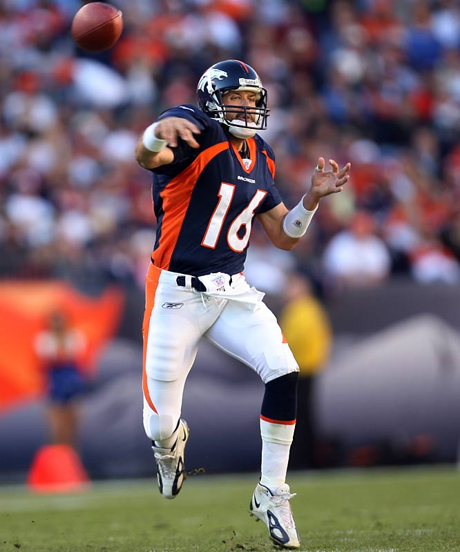 Jake the Snake's QB career snaked from Arizona State to the NFL Cardinals for six years, then four in Denver where he nearly took the Broncos to a Super Bowl. But after a loss in the '05 AFC title game, he was supplanted last season by Jay Cutler, then refused to report to Tampa Bay after a trade. The Snake now plays a lot of handball.