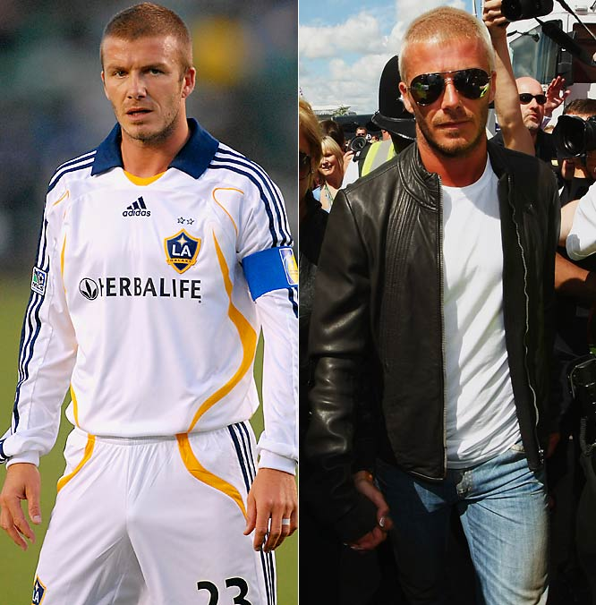 So he's past his soccer prime. The L.A. Galaxy is tossing big bucks at Becks for his style and star power. The best-dressed Brit complements Posh Spice, his wife Victoria.