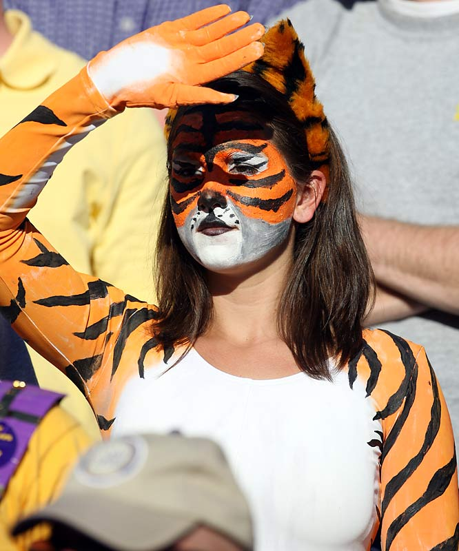 We're guessing she's an LSU fan.