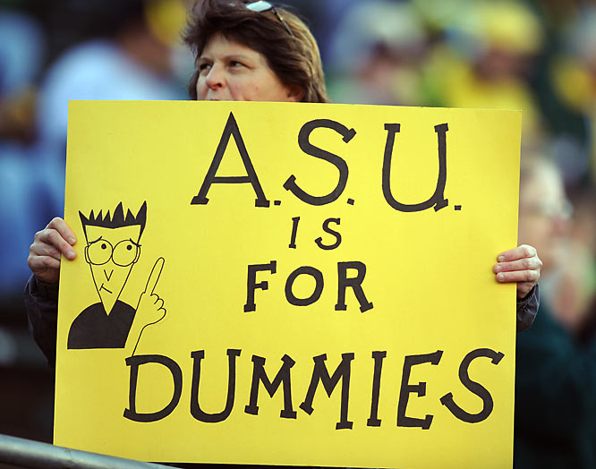 This Oregon fan gives his take on Arizona State's academic prowess.