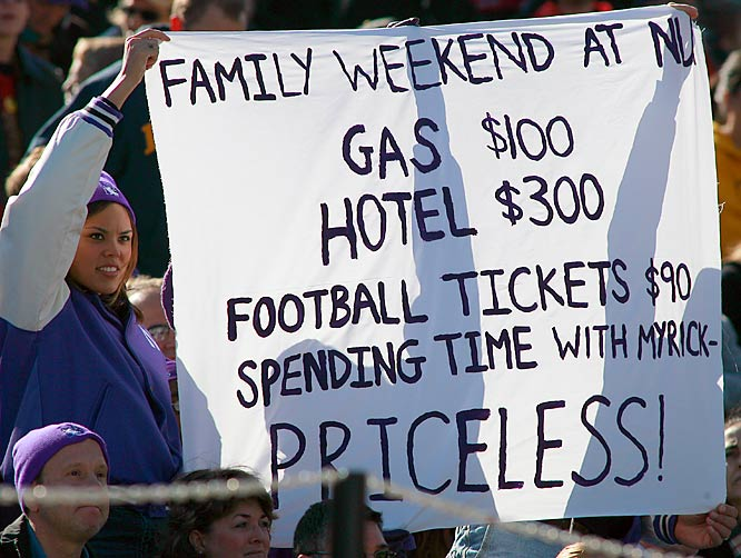 It's hard to imagine anyone spending this much money just to watch a Northwestern football game.