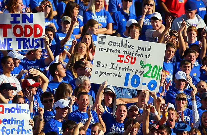 We're not so sure this Kansas fan will think the same of his investment once he graduates and those pesky  student loan bills start attacking him.