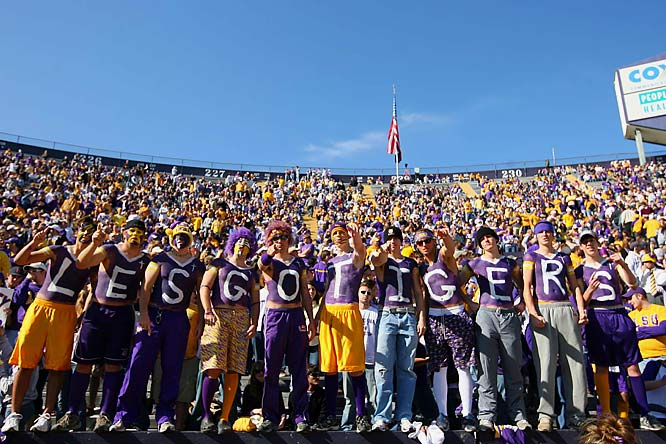 Despite the support of these fans, the top-ranked Tigers endured a triple-overtime loss to Arkansas.