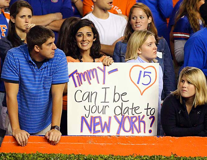 Tim Tebow seems to be a popular Heisman choice among the ladies in Gainesville.