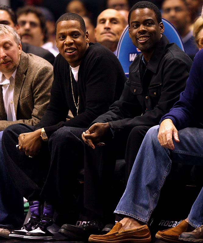 The return of the NBA meant the return of courtside celebrities. Jay-Z and Chris Rock took in Wednesday's Bulls-Nets game...