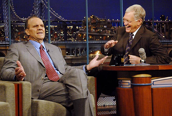 It was a quiet, uneventful week for Joe Torre, who appeared on Monday's episode of the 'Late Show with David Letterman.