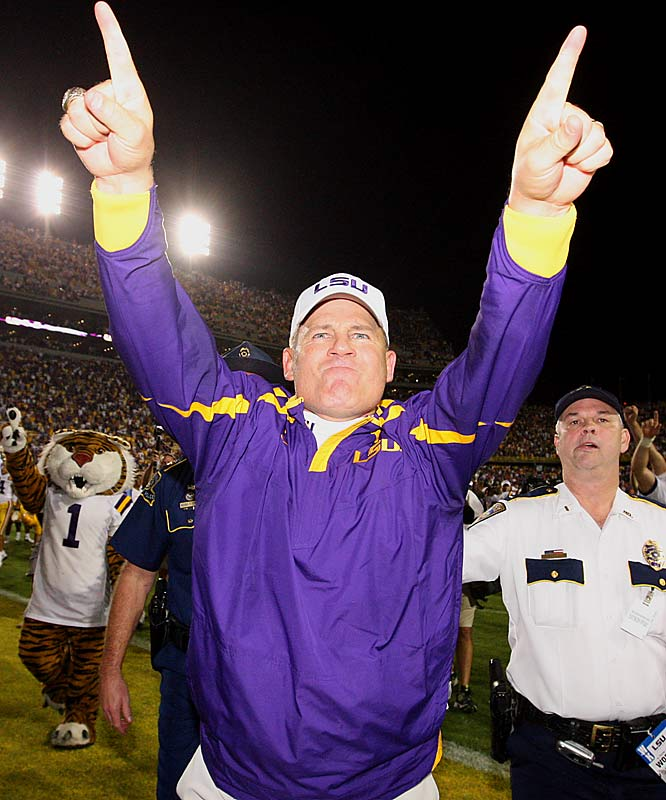 LES'S LAST DANCE AT LSU?<br><br>The speculation is that Les Miles will accept the Michigan coaching job after this conference title game. LSU has given Michigan permission to speak to Miles following the game against Tennessee.