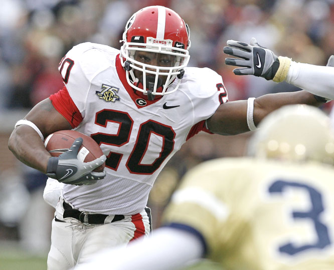 Thomas Brown had 138 yards and a touchdown as the Bulldogs ran their streak to seven straight wins over Georgia Tech.