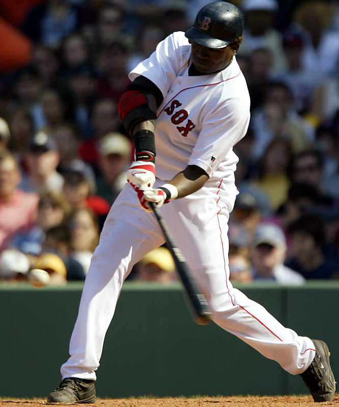 When the Twins non-tendered Big Papi in December of 2002 the Sox snapped up the slugger, split his time between first base and DH and began to turn him into a sensation. Ortiz smacked 31 homers and 39 doubles in '03, won two games with walkoffs and hit .364 in extra innings -- a taste of things to come.