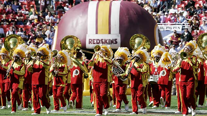 One of two teams with its own marching band (the Ravens are the other), the Redskins have been blaring their fight song -- music by Barnee Breskin; words by Corinne Griffin, wife of former owner George Preston Marshall -- since 1938.