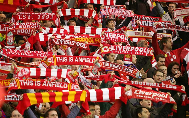 "The inspirational Rodgers and Hammerstein song from Carousel has been belted out by English soccer crowds, particularly in Liverpool, since it became a popular hit in 1963.  The band Pink Floyd used a recording of one crowd rendition in their song ""Fearless"" from the 1971 album Meddle."