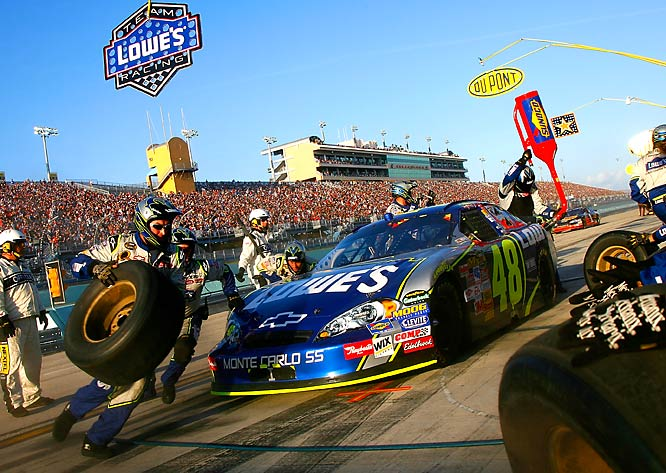 Johnson, along with Hendrick teammates Jeff Gordon, Kyle Busch and Casey Mears, dominated the 2007 Nextel Cup racing season.