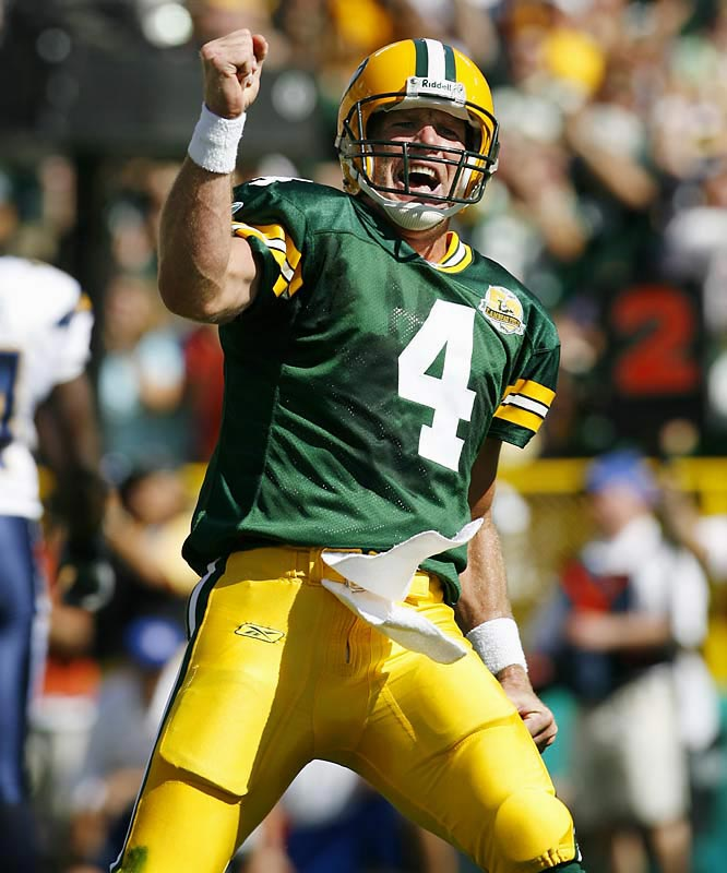 The three-time MVP seems to relish pressure-packed situations. Favre has won a Super Bowl title and is the all-time leader in touchdowns thrown.