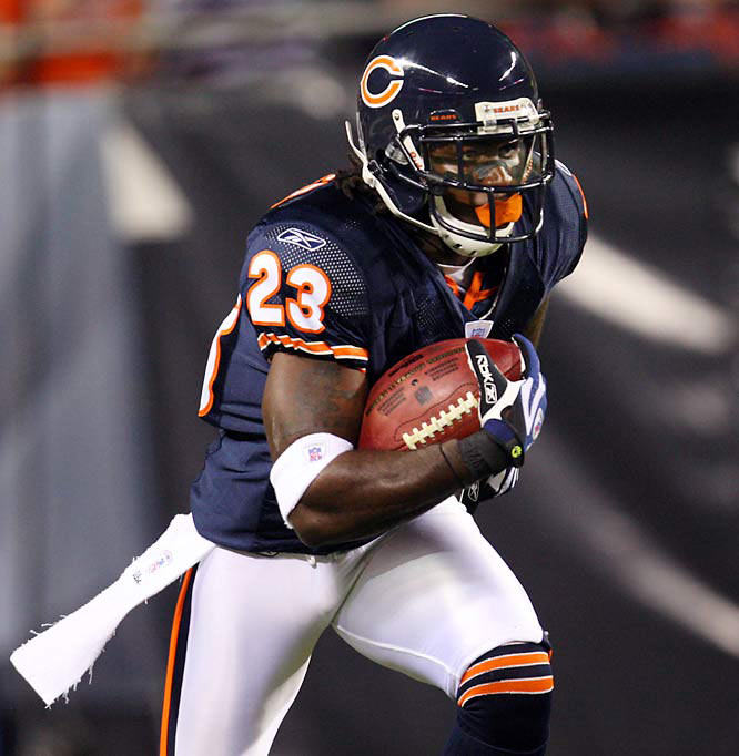 At the moment, Devin Hester is the closest thing to an automatic six in the NFL.  He has scored eight touchdowns on kickoff (3) and punt (5) returns in only 22 games. Only the most foolhardy teams will punt anywhere near him.